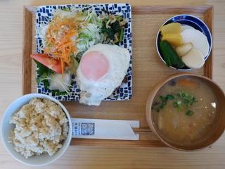 富山ランチブログ隊 お※食堂  塩麹ハンバーグ 玄米定食