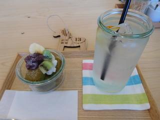 富山ランチブログ隊 お※食堂 食後のドリンク+ミニシフォンケーキ