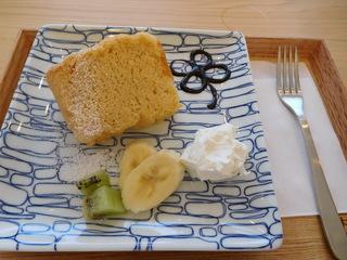 富山ランチブログ隊 お※食堂 食後のデザート シフォンケーキ