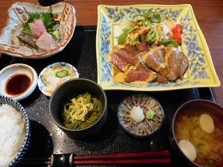 富山ランチブログ隊 きせつ料理 なるみ 和食屋さんの和食ステーキ御膳