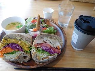 富山ランチブログ隊 アンド ライフ カフェ 「サンドイッチ セット UP」