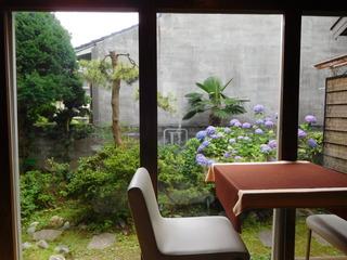 富山ランチブログ隊 洋食食堂 トロワ 店内 お庭情景