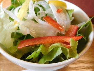 富山ランチブログ隊 洋食食堂 ジャガイモのニョッキ アラビアータ風 サラダ 画像 UP