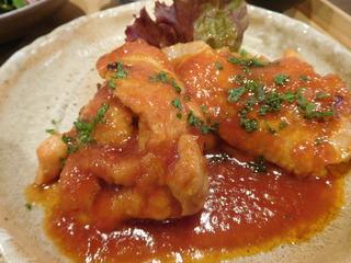 富山ランチブログ隊 ここねかふぇ 鶏肉のトマト煮込み 画像 UP