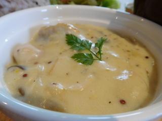 富山ランチブログ隊 ウッドペッカーカフェ 店 鶏もも肉のハニーマスタードのクリーム煮 プレート