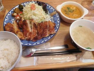 富山ランチブログ隊 アオヤギ食堂 タンドリーチキン定食(平日限定)