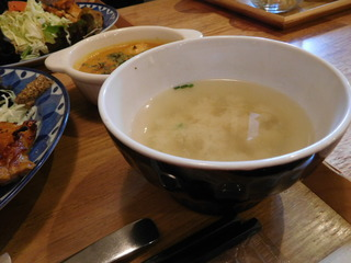 富山ランチブログ隊 アオヤギ食堂 タンドリーチキンのお味噌汁付き