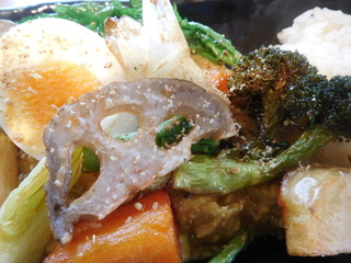 富山ランチブログ隊 カレー食堂 コロポ 豆乳味噌無水カレー とりやさい 画像UP