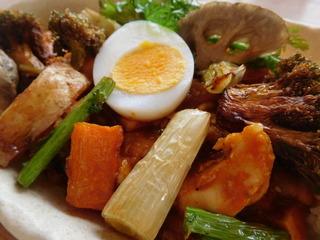 富山ランチブログ隊 カレー食堂 コロポ トマト無水カレー とりやさい