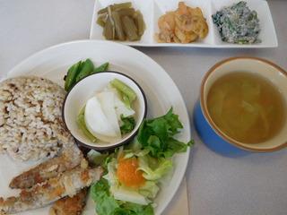 富山ランチブログ隊   くるみの森 日替わりランチ メイン魚 イワシのパン粉焼き