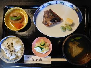 富山ランチブログ隊 なか市 日替わり定食 真鯛の切り身の味噌付け