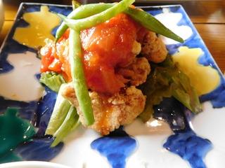 富山ランチブログ隊 かもめのジョナコ 日替わりランチ メイン鶏肉のトマトソース