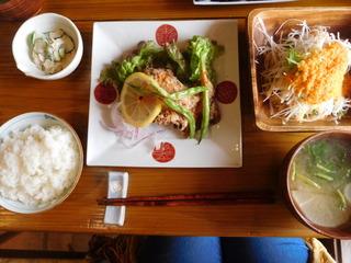 富山ランチブログ隊 かもめのジョナコ 日替わり定食 メイン サバの竜田揚げ定食