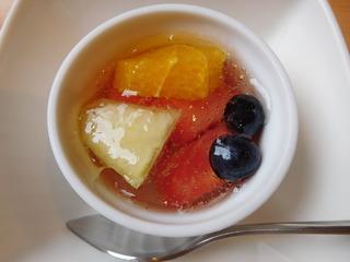 富山ランチブログ隊 旬彩ごちそう 昼ごちそう膳 デザート フルーツ掛けゼリー