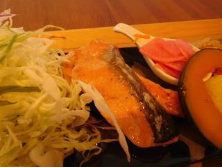 富山ランチブログ隊 和風カフェ&ランチ 和氣 ii サーモンのメープル醤油漬け焼き 画像 UP