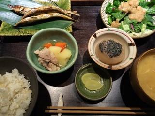 富山ランチブログ隊 たま氣 ミギス丸干し定食