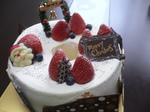 富山 ランチ ローズウッド ピュアシフォンクリスマスケーキ