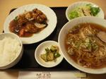 富山ランチ隊 満寿園 麺ランチ 酢豚セット