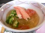 富山ランチ はづき 春雨とくずとオクラと蟹の酢物