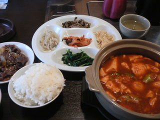 富山ランチブログ 漢江 韓国家庭料理定食