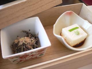 富山ランチ 雪ランチ チーズ湯葉豆腐&ゆで干し大根の黒ゴマ和え