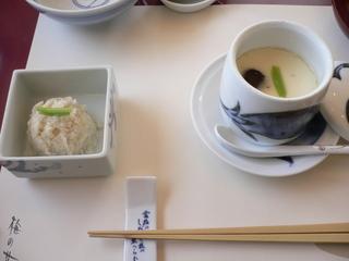 富山ランチ 梅の花ランチ おから+茶碗蒸し