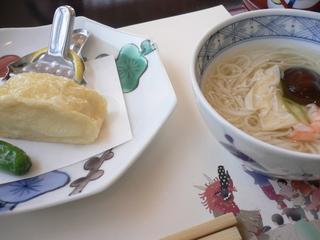 富山ランチ 更沙ランチ 湯葉揚げ&温麺