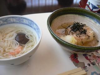 富山ランチ 更沙ランチ 温メン&湯豆腐