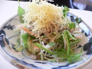 富山ランチ 雪ランチ 豆腐サラダ
