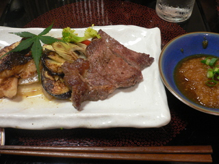 富山ランチブログ隊 太右ヱ門亭 牛肉のステーキ・平目のステーキ盛り合わせ