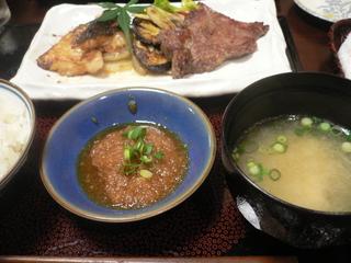 富山ランチブログ隊 太右ヱ門亭  ご飯・味噌汁・肉魚の盛り合わせ