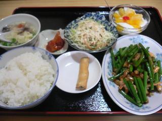 富山ランチブログ隊 全科福  鶏肉とニンニクの芽炒めランチ