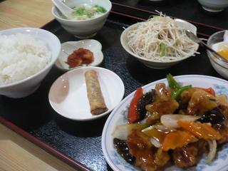 富山ランチブログ隊  全科福 酢豚ランチ(黒酢)