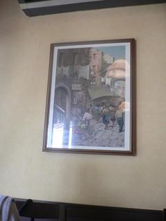 富山ランチブログ隊 ラ・クッチーナ店内壁画