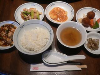 富山ランチブログ 隊 中華料理 高尾 中華4点セット+スープ