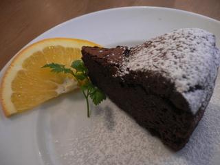 富山ランチブログ隊 トラットリア・ポルコ ドルチェ チョコレートケーキ
