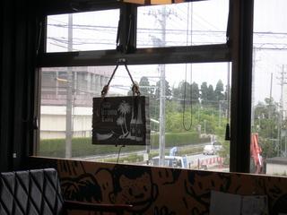 富山ランチブログ隊 Cafe mandy 店内窓越し 情景