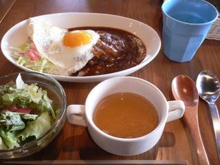 富山ランチブログ隊 Cafe mandy ロコモコ