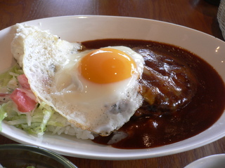 富山ランチブログ隊 Cafe mandy ロコモコ UP