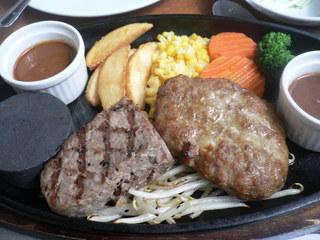 富山ランチブログ隊 「匠」(TAKUMI ) ステーキ&ハンバーグランチ