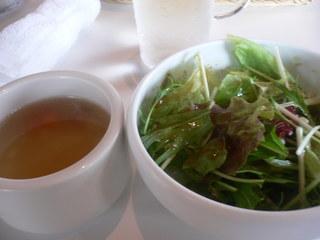 富山ランチブログ隊 呉音 スープと野菜サラダ