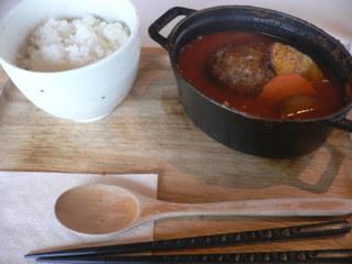 富山ランチブログ 呉音 トマトスープ 煮込みハンバーグ