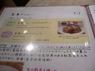 富山ランチブログ隊 「癒楽甘 春々堂」(チュンチュンドウ) 食事メニュー