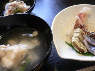 富山ランチブログ隊  ふじ居 あら汁+刺身