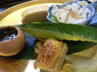 富山ランチブログ隊  ふじ居 魚ソーメン+もずく酢