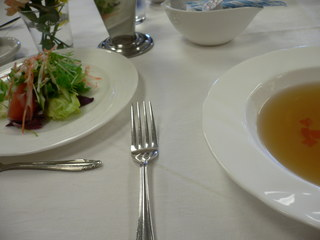 富山ランチブログ隊 電気ビル レストラン ランチAセッ 前菜&スープ