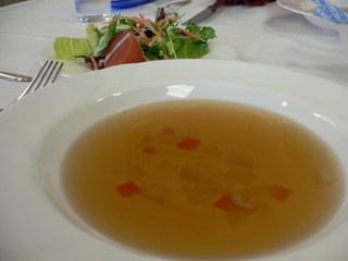 富山ランチブログ隊 電気ビル レストラン4F ランチAセット スープ