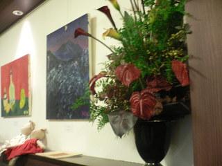 富山ランチブログ隊 カスタマーズダイニング・アマン 店内 壁画展示