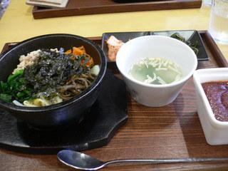 富山ランチブログ隊]どんたく食堂 スッカラ 石焼ピビンバ定食