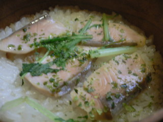 富山ランチブログ隊 季節料理 すづな ワッパ飯 鮭UP